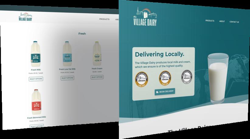 The Village Dairy E-commerce Website