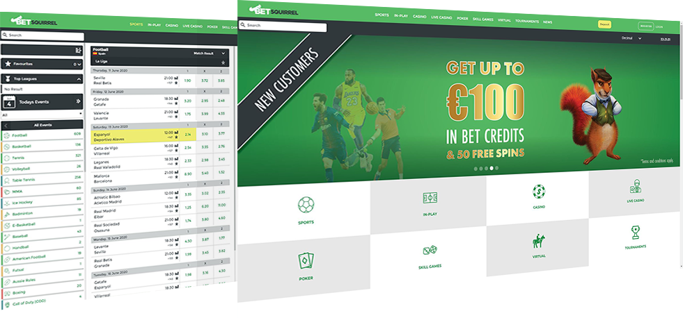 BetSquirrel Sports Betting Platform
